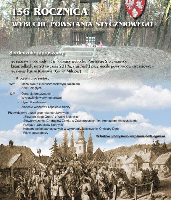 156. rocznica wybuchu powstania styczniowego – obchody w Klarowie
