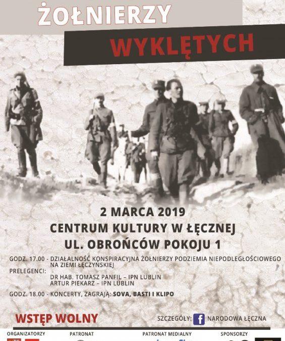 Narodowy Dzień Pamięci Żołnierzy Wyklętych w Łęcznej