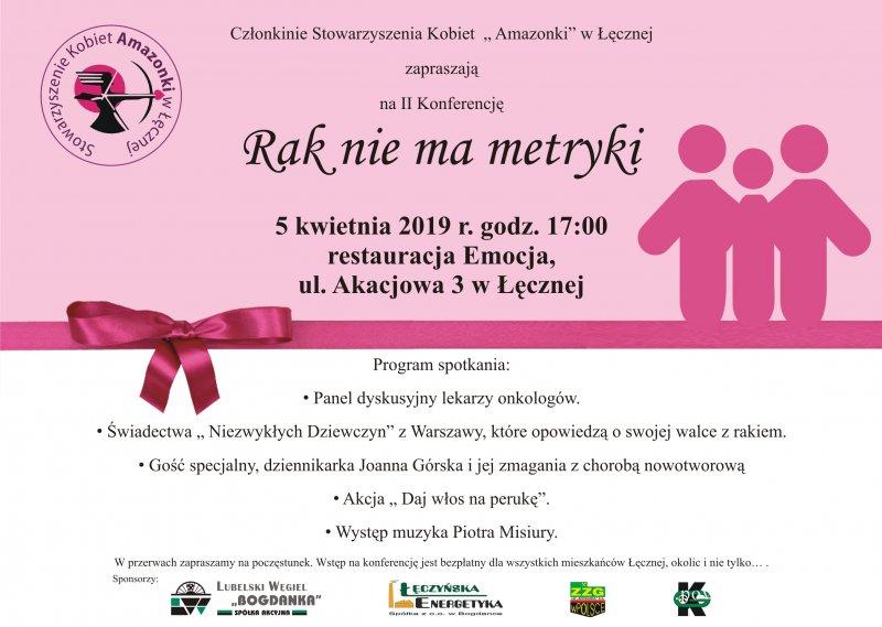 """II Konferencja """"Rak nie ma metryki"""""""