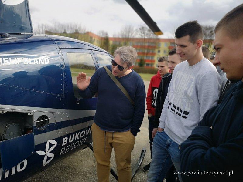 Lekcja z helikopterem w Zespole Szkół Górniczych
