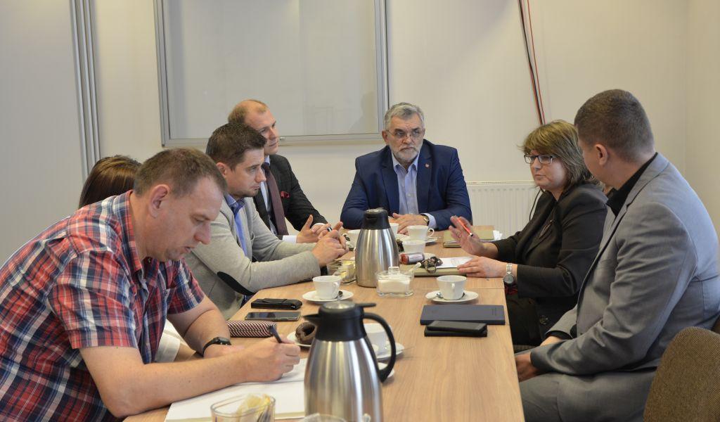 Posiedzenie Powiatowego Zespołu Zarządzania Kryzysowego w Łęcznej
