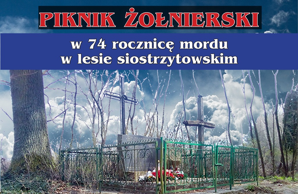 74. rocznica mordu w lesie siostrzytowskim