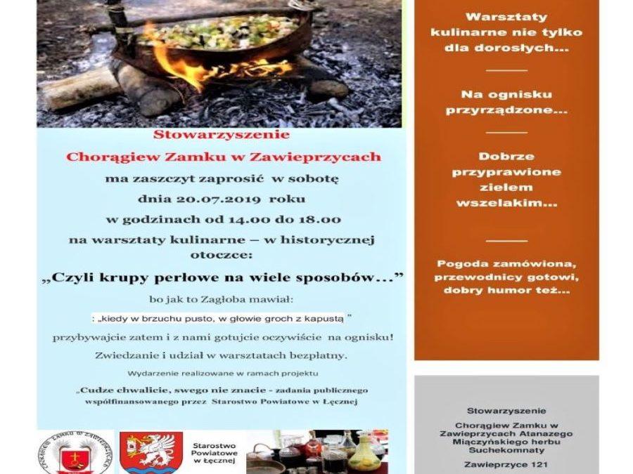 Historyczne warsztaty kulinarne w Zawieprzycach