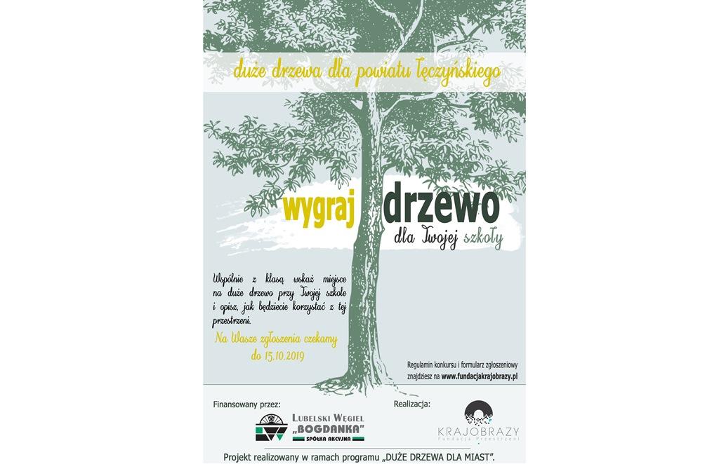 """Akcja """"Duże drzewa dla powiatu łęczyńskiego"""""""
