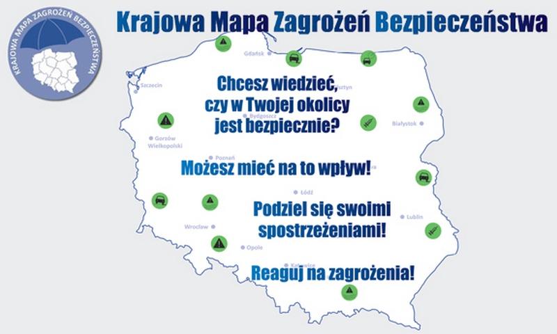 Krajowa Mapa Zagrożeń Bezpieczeństwa w powiecie łęczyńskim