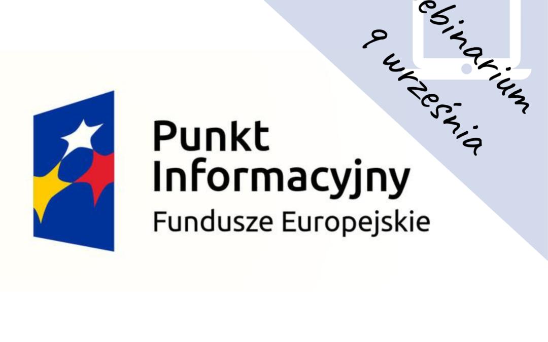 Fundusze Europejskie 2014-2020 na rozpoczęcie działalności gospodarczej – webinarium