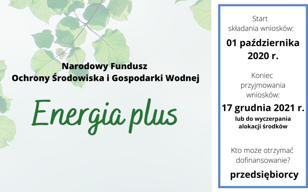 """Nabór II wniosków w ramach programu priorytetowego """"Energia Plus"""""""