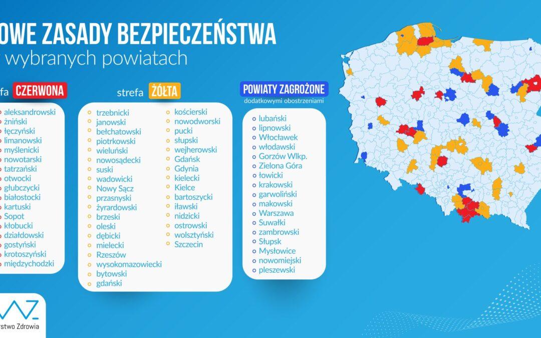 Powiat łęczyński został objęty czerwoną strefą!