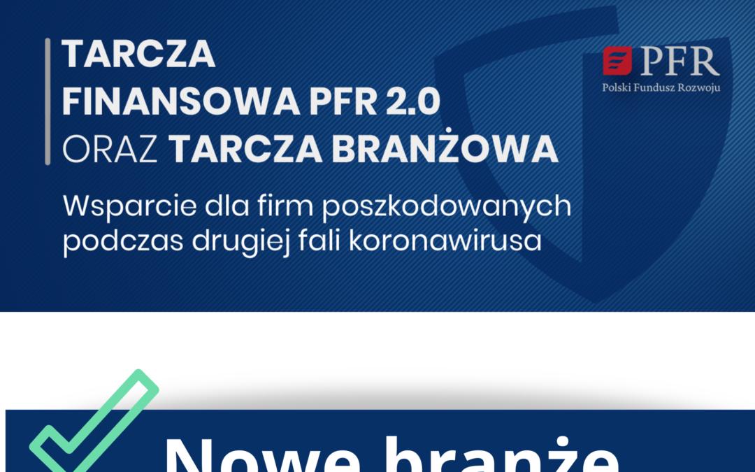 Tarcza Finansowa PFR 2.0 – wsparcie dla nowych branż