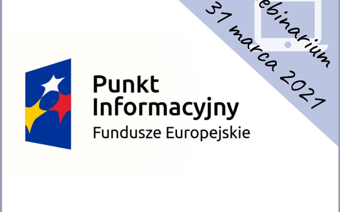 Webinarium: Fundusze Europejskie 2014-2020 na rozpoczęcie działalności gospodarczej
