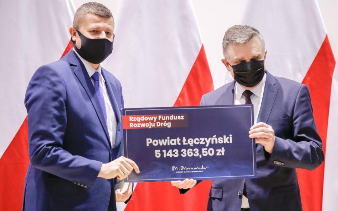 5 143 363, 50 zł z Rządowego Funduszu Rozwoju Dróg