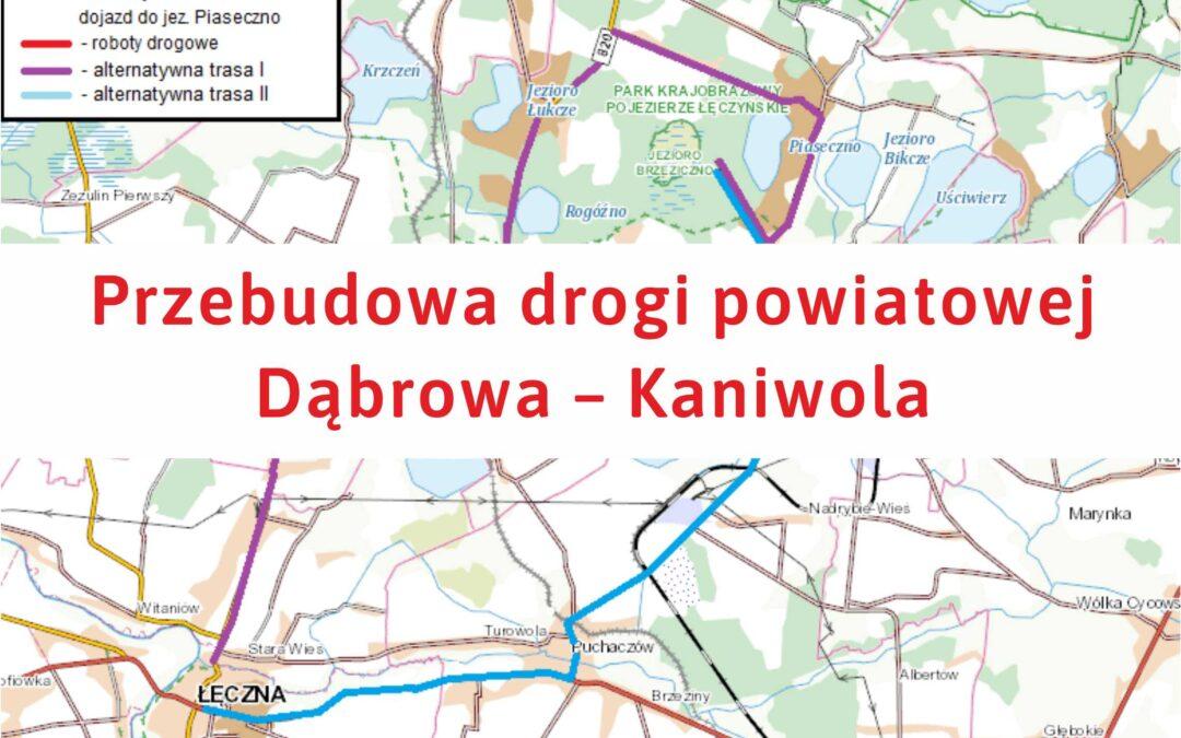 Przebudowa drogi powiatowej Dąbrowa – Kaniwola