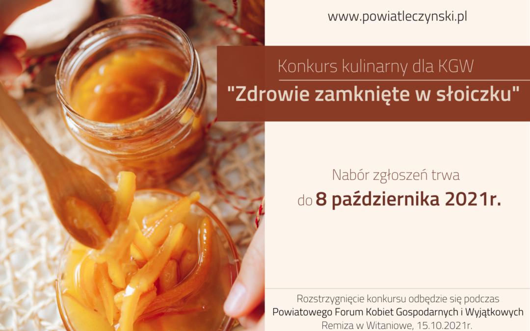 """Konkurs """"Zdrowie Zamknięte W Słoiczku"""""""